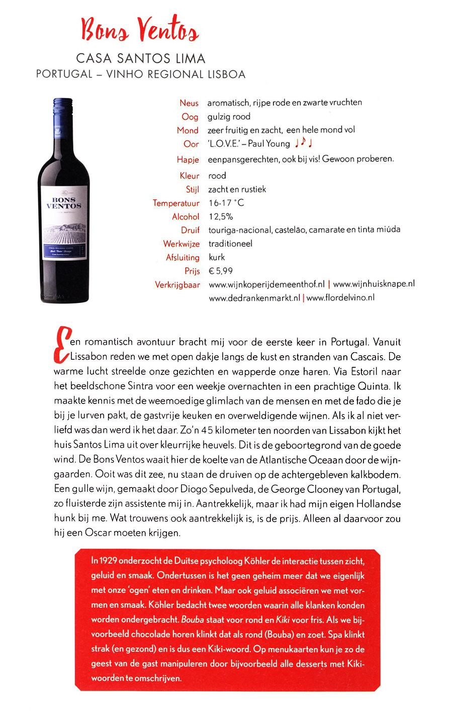 Janna Bons Ventos wijngids 2017