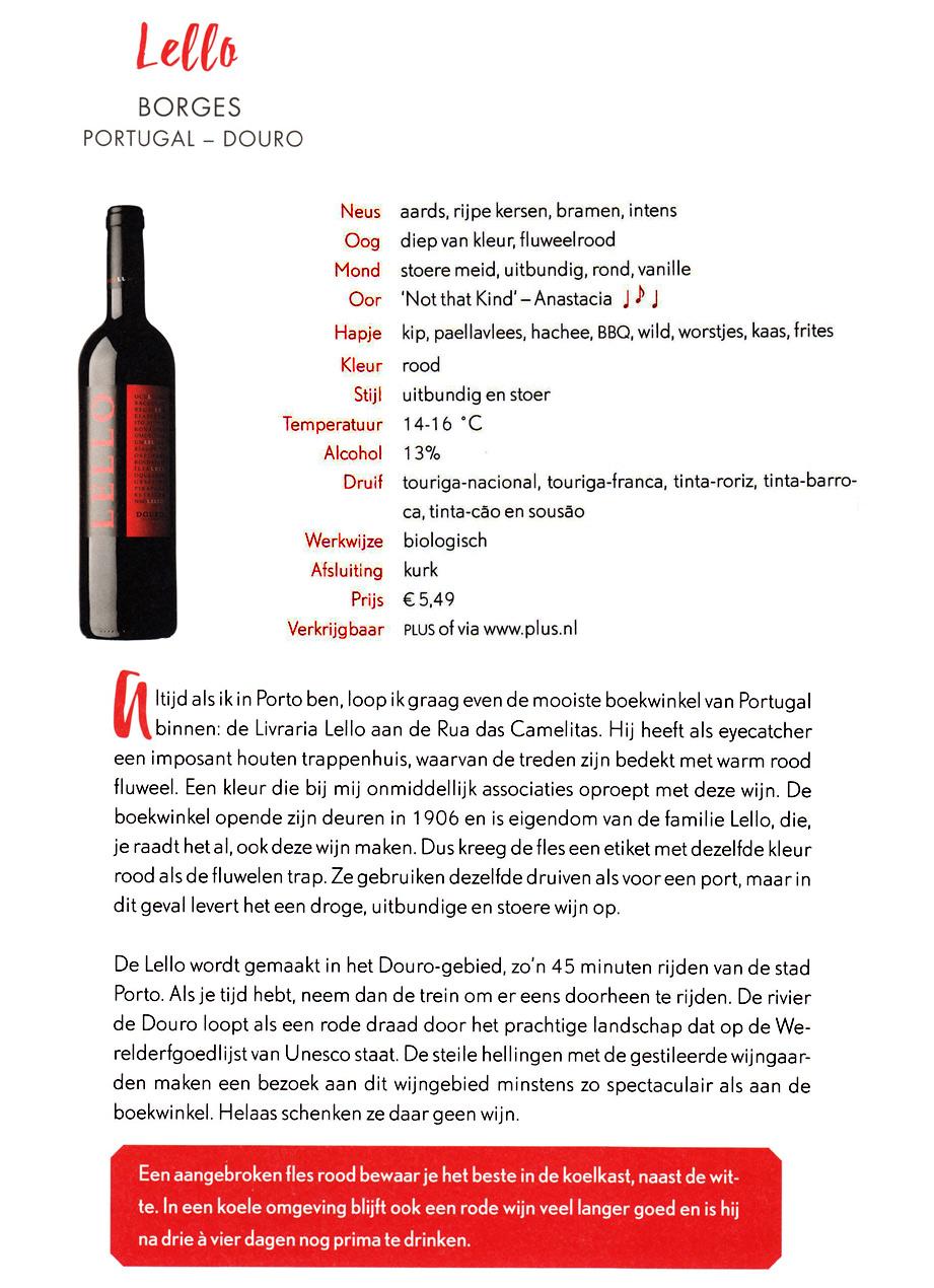 Janna wijngids voor vrouwen Lello rood