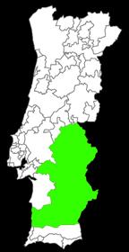kaart wijngebied Alentejo
