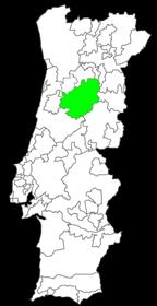 kaart wijngebied Dão