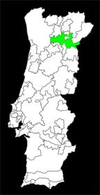 kaart wijngebied Douro