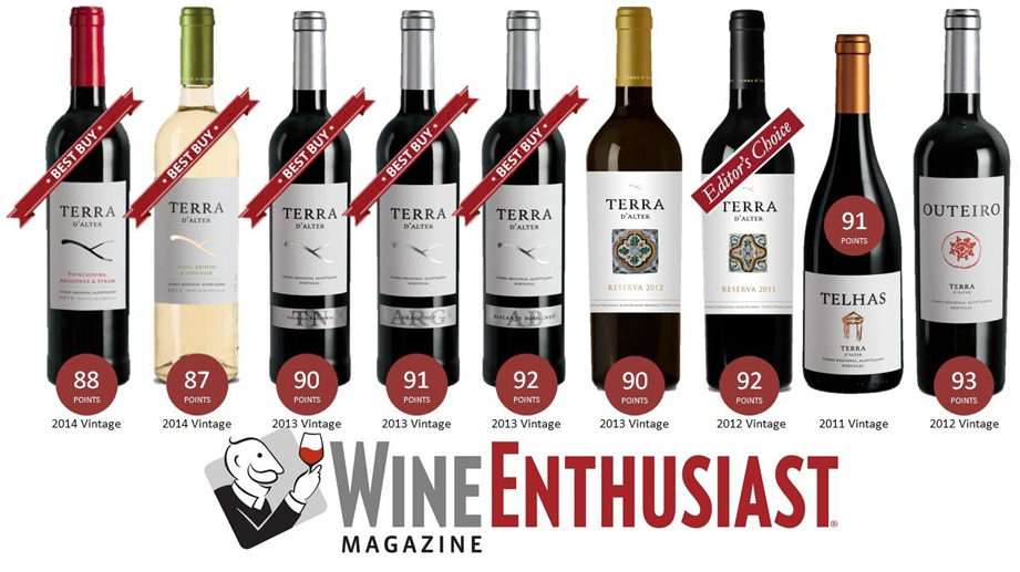 Terra d'Alter in Wine Enthusiast, december 2015