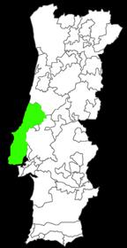 kaart van het wijngebied Lisboa